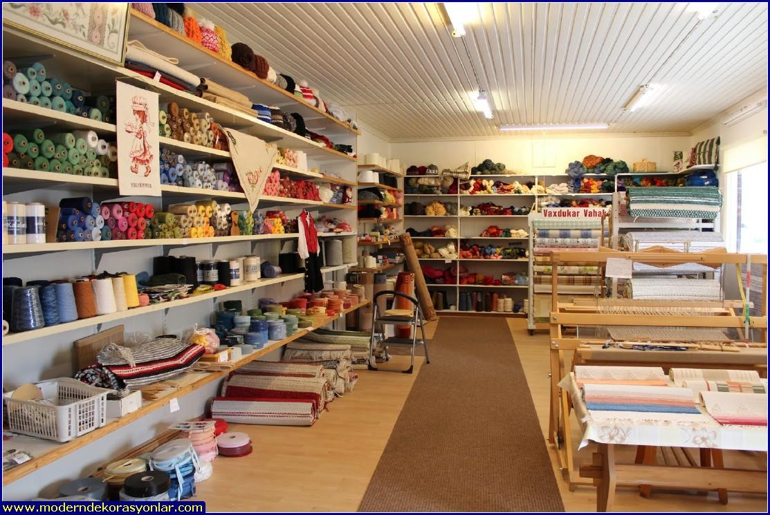 ev tekstil mağazası dekorasyon 3