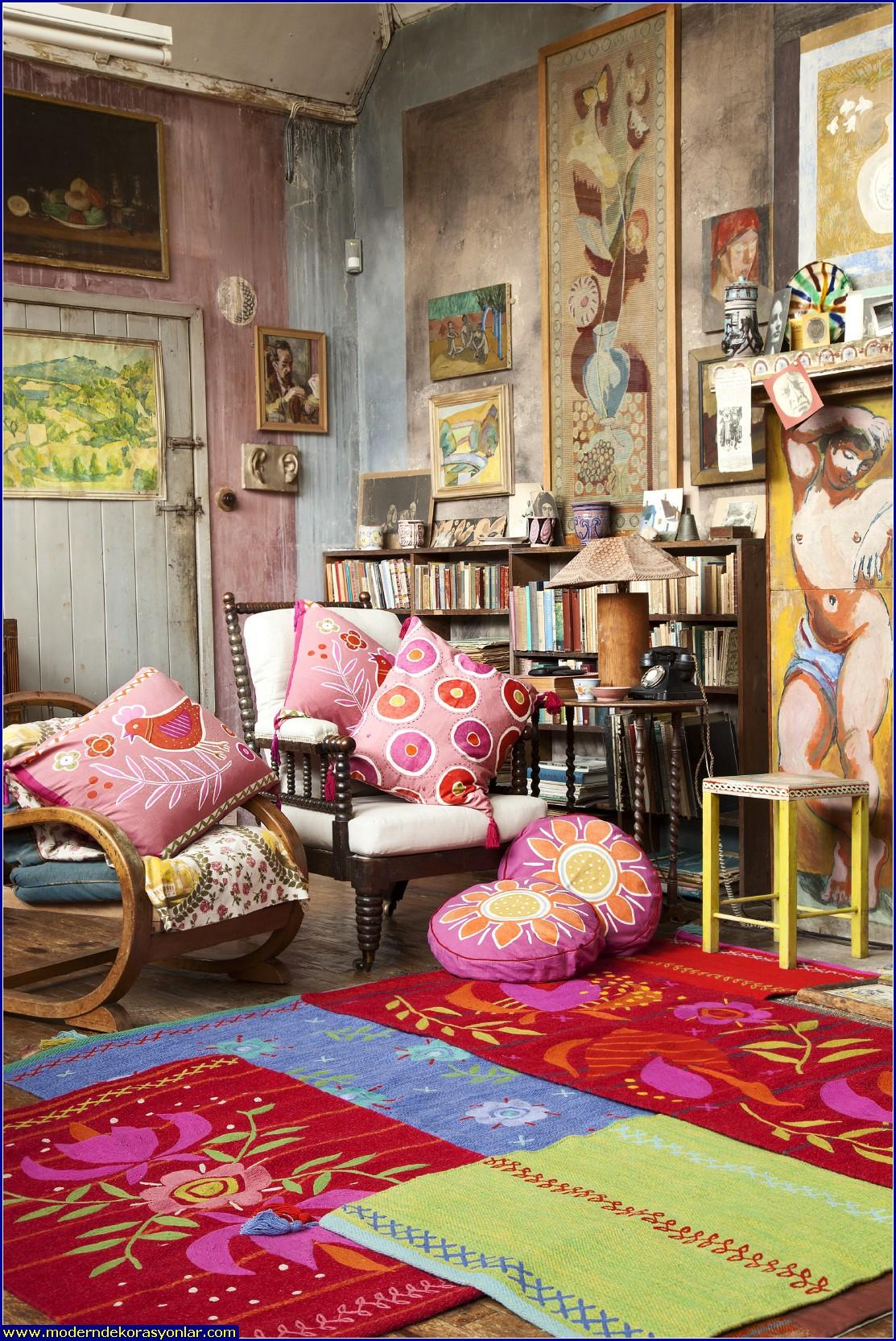 ev tekstil mağazası dekorasyon