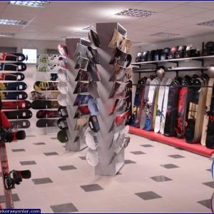 spor eşyalar dükkanı dekorasyonu