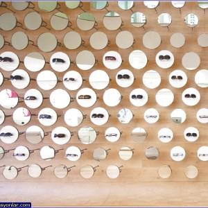 gözlük mağazası dekorasyon