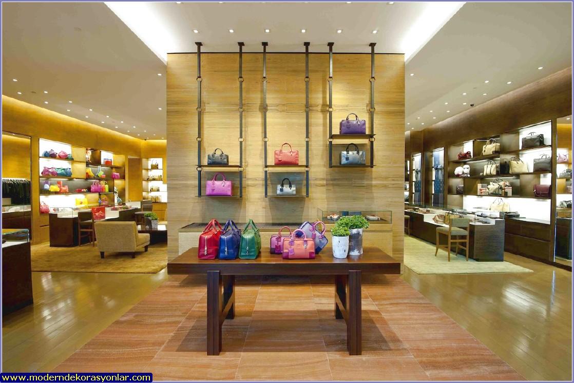 çanta mağazası dekorasyonu örneği