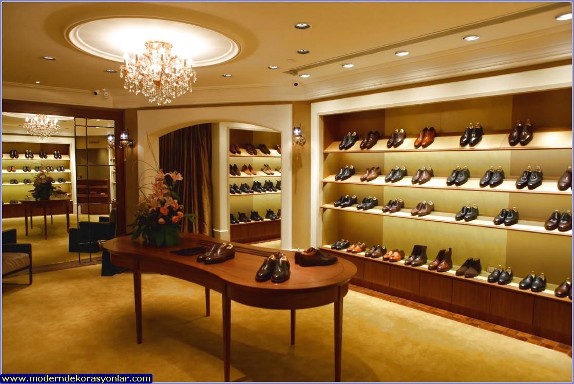 ayakkabı mağazası dekorasyonu