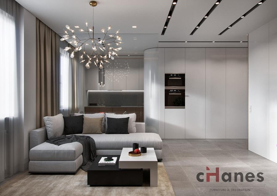 1+1 salon dekorasyonu örnekleri