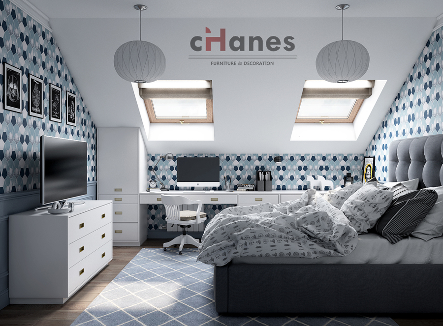 Genç Odası Dekorasyon Örneği 3