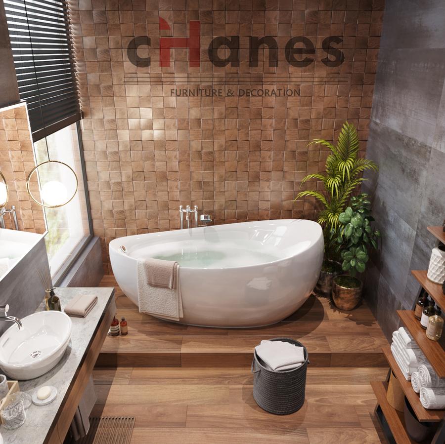 banyo için ahşap dekorasyon örnekleri